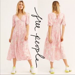 Free People Forever Always Midi Dress Size 8